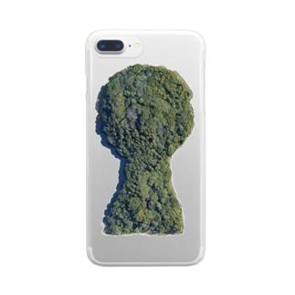 箸墓古墳(シンプルver.) Clear smartphone cases