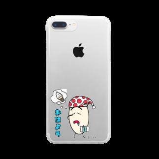 Ambersim(アンバーシム)のこめこめっち Clear smartphone cases