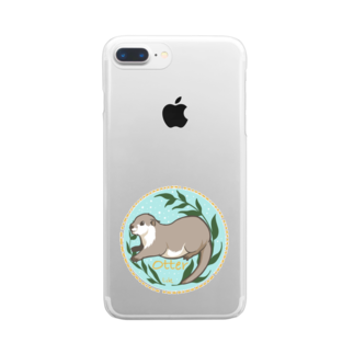 Lichtmuhleのカワウソ Clear smartphone cases