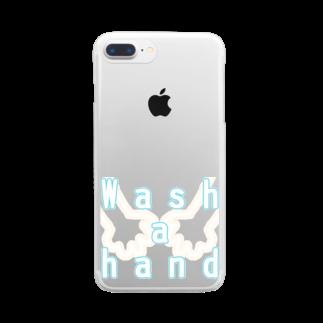 しおい&しおん  毎月下旬 定価セールのWash a hand Clear smartphone cases