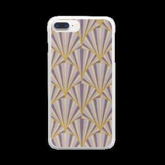 SANKAKU DESIGN STOREの和モダン青海波。 不規則/大 Clear smartphone cases