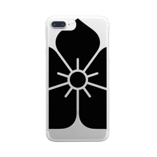 明智家の家紋(桔梗) Clear smartphone cases