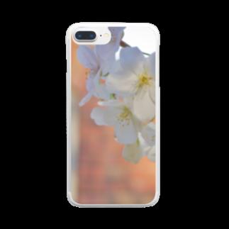 まきまきふぉとのsakura Clear smartphone cases