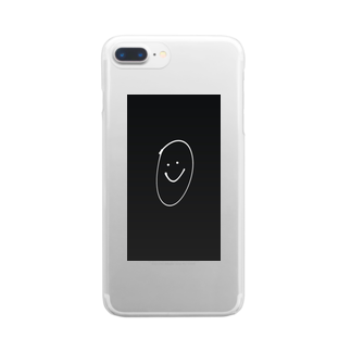 osumashi_glitter_のまるこめ Clear smartphone cases