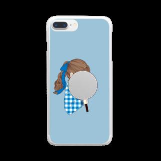 i_to_uのオタカツがーる ぶるー Clear smartphone cases