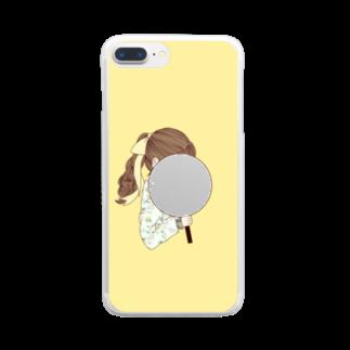 i_to_uのオタカツがーる いえろー Clear smartphone cases