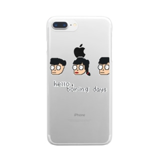 hello,boring days Clear smartphone cases