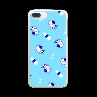 ぎゅっと。の森野牛乳 Clear smartphone cases