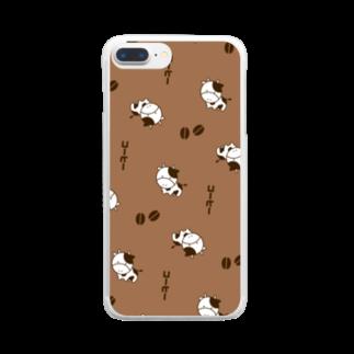 ぎゅっと。のコーヒー牛乳 Clear smartphone cases