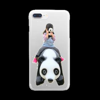 39のパンダ Clear smartphone cases