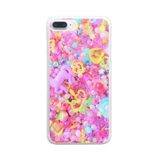 キラキラのまほう Clear smartphone cases