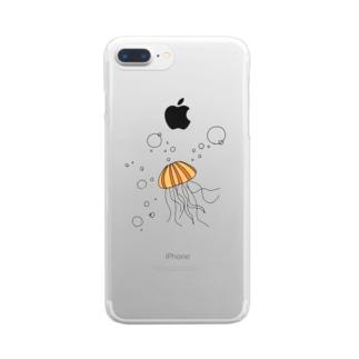 あかくらげくん Clear smartphone cases