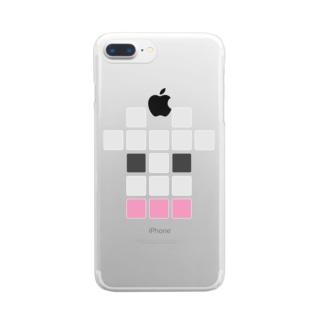 うしロゴ160127 Clear smartphone cases