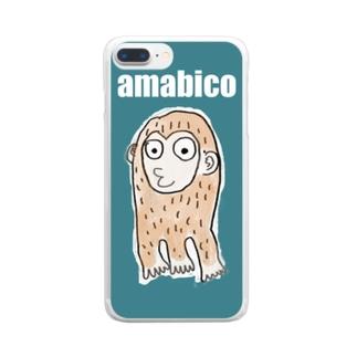 アマビコ殿 Clear smartphone cases