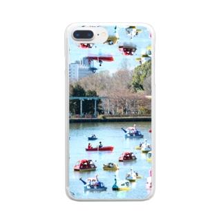 スワンボートはため池を泳ぐのではなく空を泳ぐ Clear smartphone cases