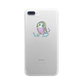 アマビエ様 Clear smartphone cases