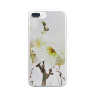 TOKIMEKIFLOWER白梅花 Clear smartphone cases