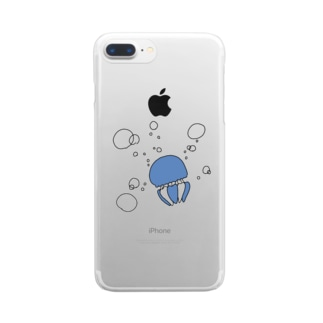 カラージェリーフィッシュちゃん Clear smartphone cases