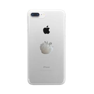 鉱物/クリスタルⅡ Clear smartphone cases