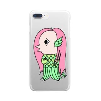 アマビエ Clear smartphone cases