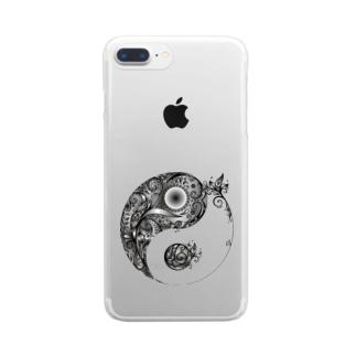 太陰太極図 Clear smartphone cases