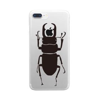 コクワくん Clear smartphone cases
