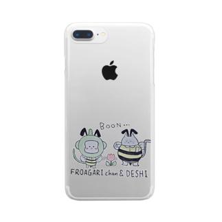 ふろあがりちゃん&弟子 蜂バージョン Clear smartphone cases