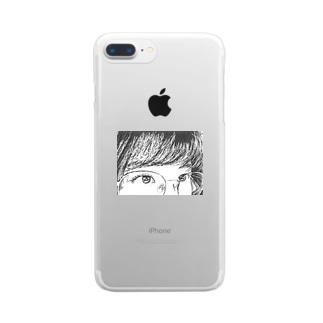 メガネちゃん Clear smartphone cases
