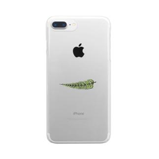 シダ植物 Clear smartphone cases