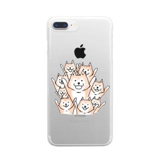 イラストムーコスマホケース Clear smartphone cases