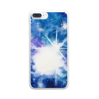滲みゆく宇宙 No.1 Clear smartphone cases