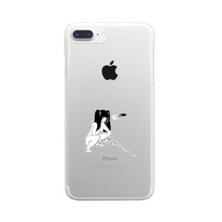peequod×小骨トモ コラボ Clear smartphone cases