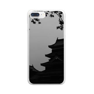 松本城 Clear smartphone cases