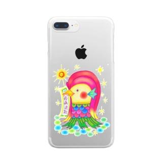 アマビエサマ Clear smartphone cases