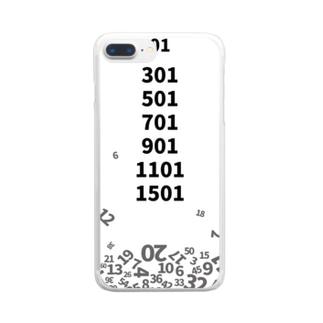 ゼロワン 降り積もるナンバー Clear smartphone cases