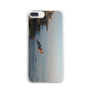 飛び込むおじさん Clear smartphone cases