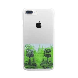 maik1982のシーサー Clear smartphone cases