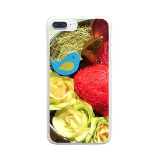 ばらとスターナッツと青い鳥 Clear smartphone cases