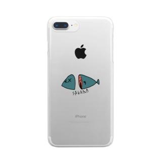 不思議な魚 Clear smartphone cases