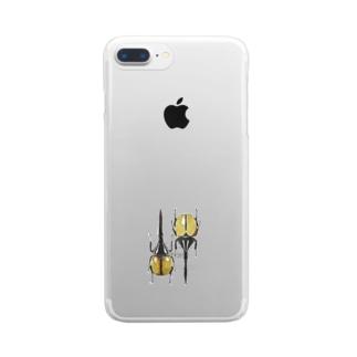 ヘラクレス・ヘラクレス Clear smartphone cases