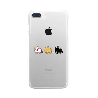 カエルアンコウ三兄弟 Clear Smartphone Case