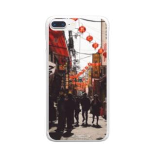 チャイナタウンの午後 Clear smartphone cases