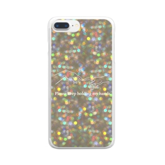 Please keep holding my hands. Clear smartphone cases