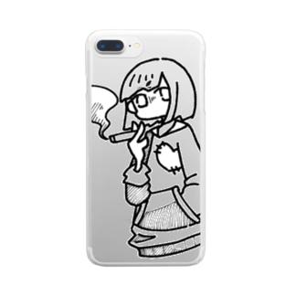 藍月のsmoke... Clear smartphone cases
