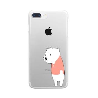 しろくま Clear smartphone cases