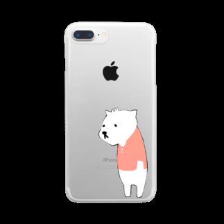 はるはらのしろくま Clear smartphone cases