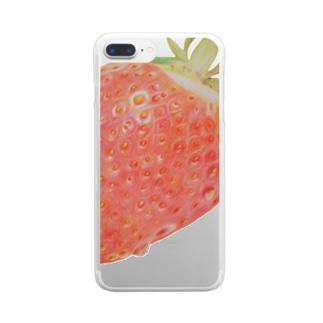 いちごひとつぶ Clear smartphone cases