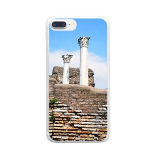 イタリア:オスティアの神殿遺跡 Italy: view of Ostia Clear smartphone cases
