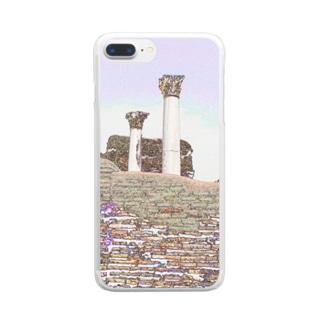 CG絵画:オスティアの神殿遺跡 CG art: Ostia Clear smartphone cases