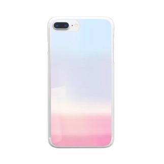 りどりの一目惚れ Clear smartphone cases